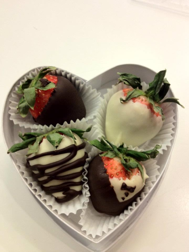 Chocolate Covered Organic Strawberries - Made in House Today!
