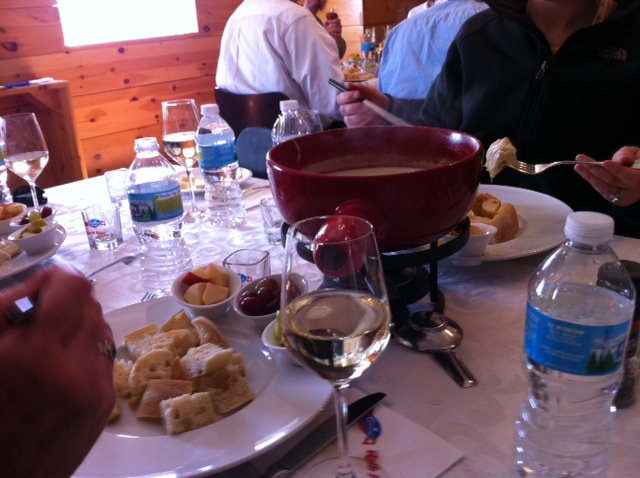 Fondue served to Cheese & Crackers at Emmi Roth Americas premiere Swiss producer