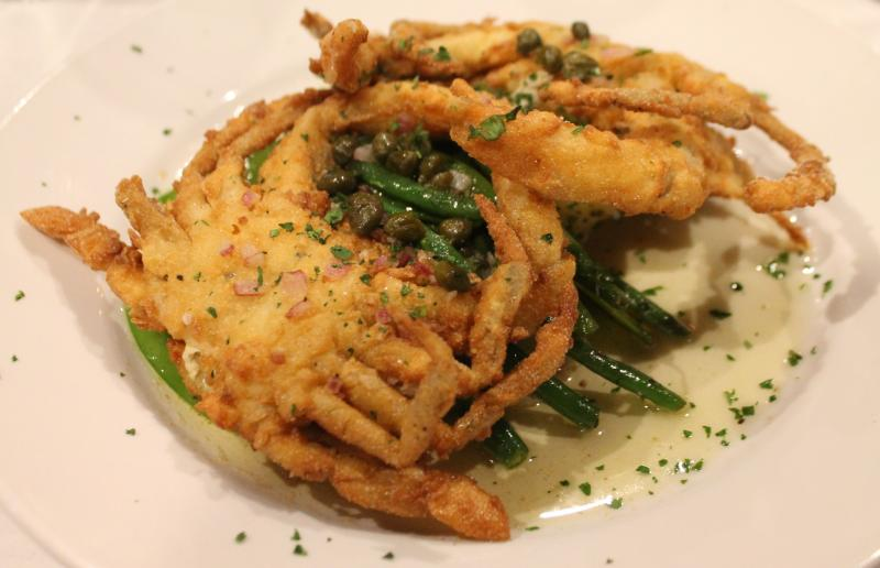 Softshell Crabs at Cheese and Crackers never frozen