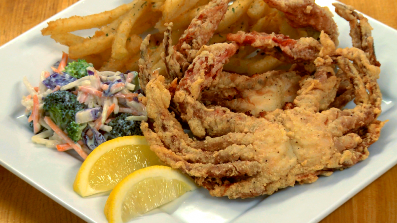 Softshell Crabs at Cheese and Crackers
